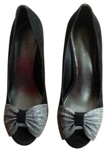 Connie black and fabric Pumps