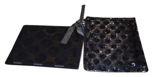 Ann Taylor LOFT Set Twin Set Sequin Zipper Closure New With Tags 2 For The Price Of 1 $8.00 Each Black Clutch