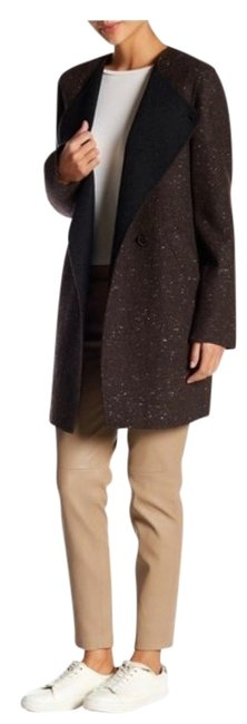 Item - Dark Charcoal Multi Wool Blend Nyma. Donegal Divide Coat Size 8 (M)