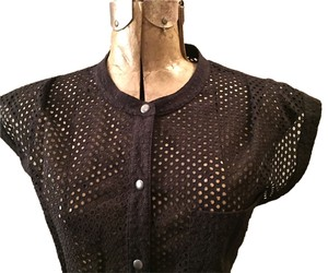 edun Eyelet Top black