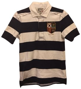 Rugby Ralph Lauren T Shirt Navy Blue and white