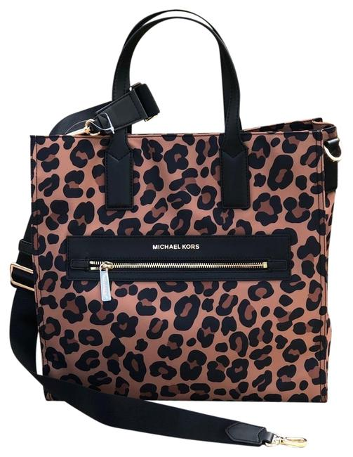 Item - Leopard Print Kenly Large Ns Hadnabg Multicolor Nylon/Leather Tote