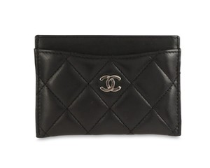 Chanel Quilted Lambskin Leather Card Holder