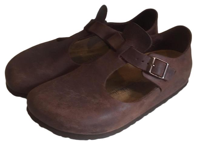 Item - Brown Oiled- Leather Paris Mules/Slides Size EU 38 (Approx. US 8) Narrow (Aa, N)