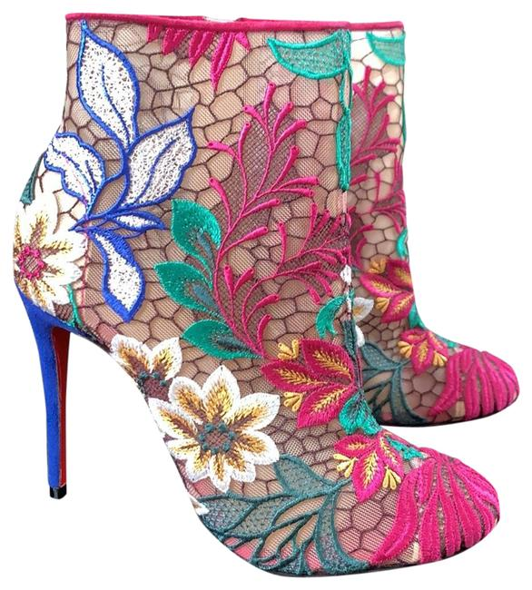 Item - Blue Miss Tennis Ultimate Color Floral Mesh Boots/Booties Size EU 35 (Approx. US 5) Regular (M, B)