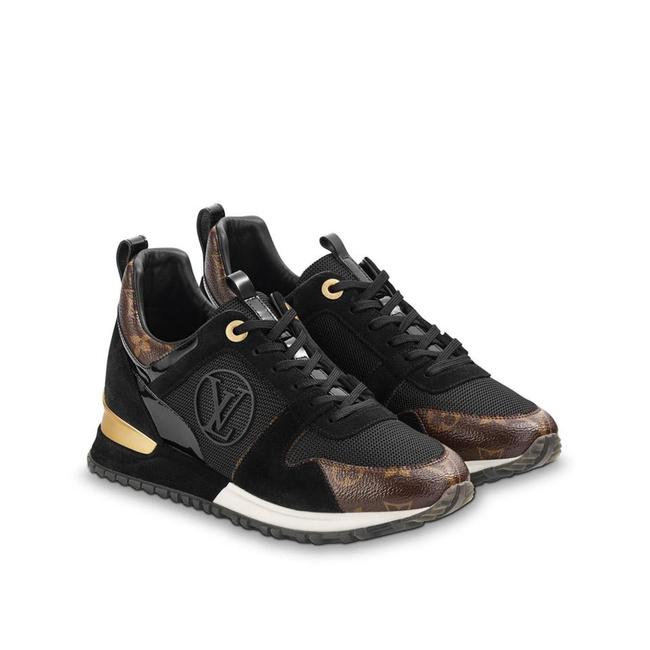 Item - Black and Gold Run Away Sneakers Size EU 37 (Approx. US 7) Regular (M, B)