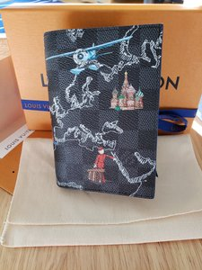 Louis Vuitton Passport Cover & Card Holder Limited Edition Map Europe Damier Graphite