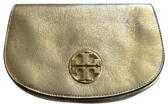 Item - Clutch And Gold Leather Cross Body Bag