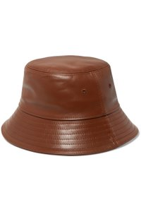 Burberry Burberry Brown Leather Bucket Hat Size Small