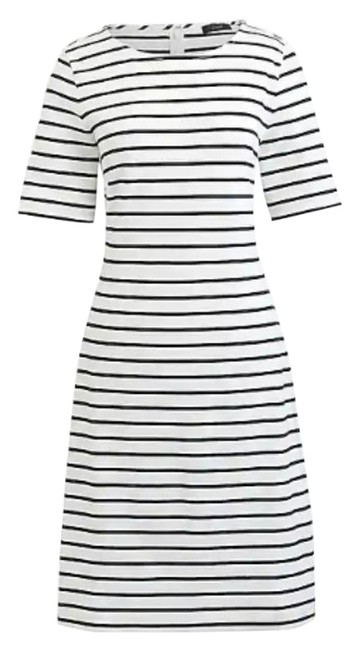 Item - White Striped Short Casual Dress Size 2 (XS)