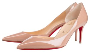 Christian Louboutin Patent Leather Work Office Nude beige Pumps