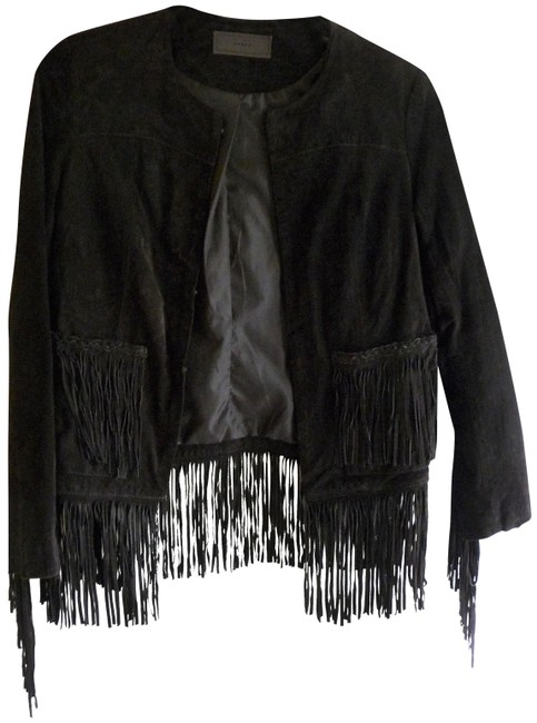 Item - Brown Fringed and Lined Jacket Size 4 (S)
