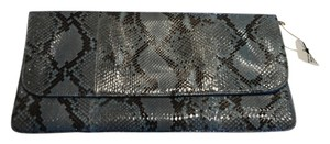 Saks Fifth Avenue Turquoise/Black Clutch