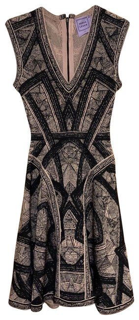 Preload https://img-static.tradesy.com/item/26108204/herve-leger-black-with-a-tanpinky-color-giada-geometric-arc-raised-pointelle-mid-length-cocktail-dre-0-3-650-650.jpg