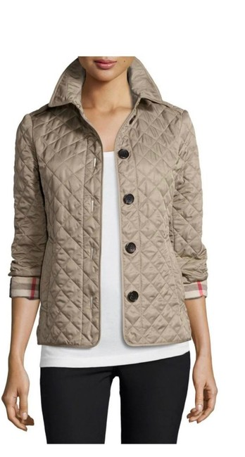Item - Light Brown Taupe Quilted Jacket Size 8 (M)