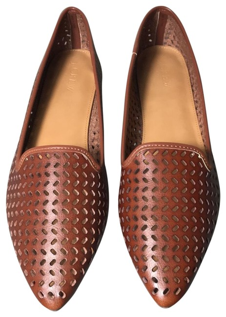 Item - Brown Perforated Loafers Flats Size US 11 Regular (M, B)