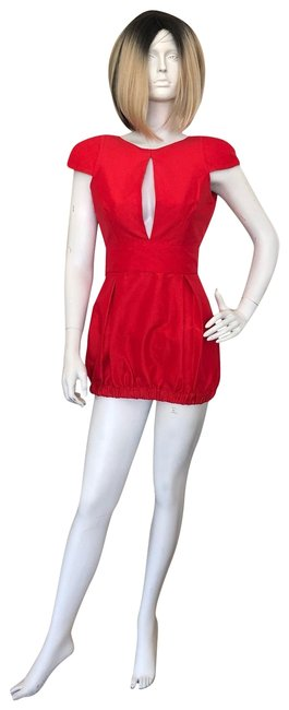 Item - Red Short Night Out Dress Size Petite 4 (S)