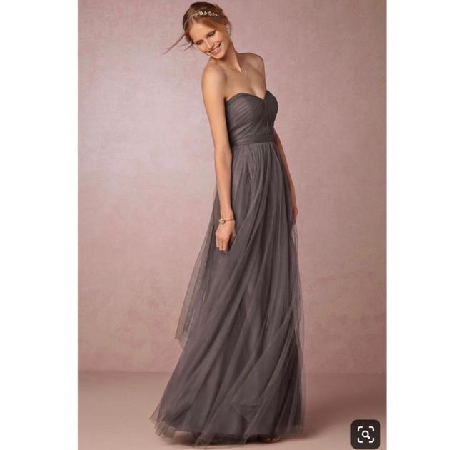 Item - Gray Tulle Annabelle Formal Bridesmaid/Mob Dress Size 2 (XS)