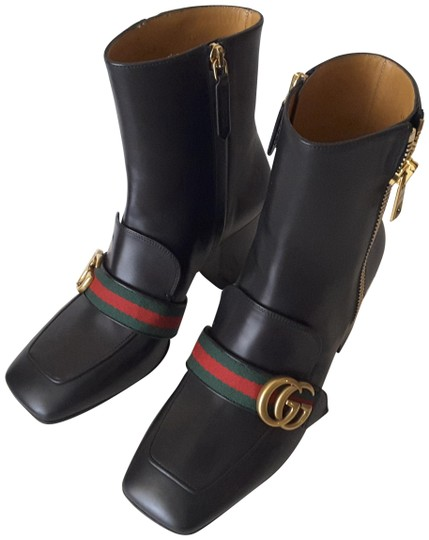 Gucci Black Peyton Ankle Boots/Booties