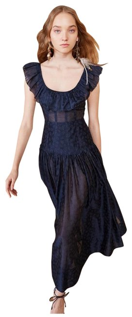 Item - Blue Coretta Midnight Mid-length Formal Dress Size 12 (L)