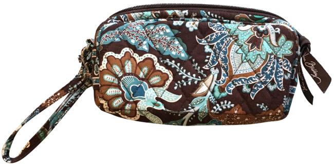 Item - Brown and Turquoise Cloth Wristlet