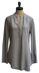 James Perse Crepe Tunic Theory Madewell Linen Top BEGE/SHADOW
