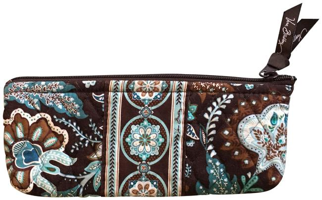 Item - Brown and Turquoise Cosmetic Bag