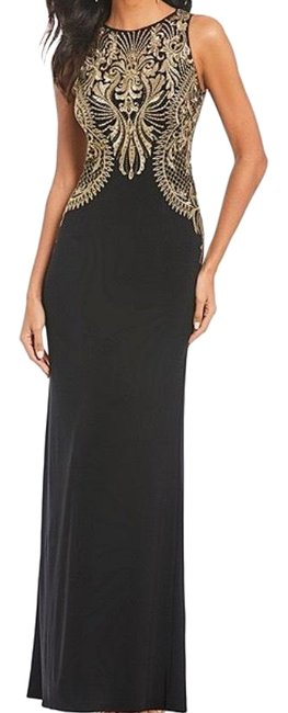 Item - Black and Gold 069434349 Long Formal Dress Size 8 (M)