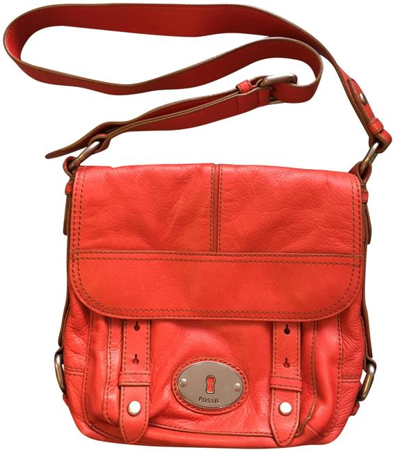 Item - Crossbody Orange Leather Shoulder Bag