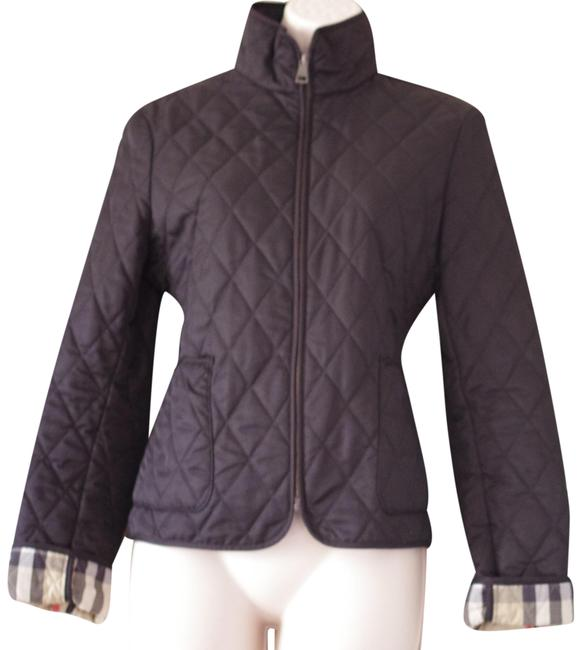 Item - Black Quilted Women's Short Jacket Size 4 (S)