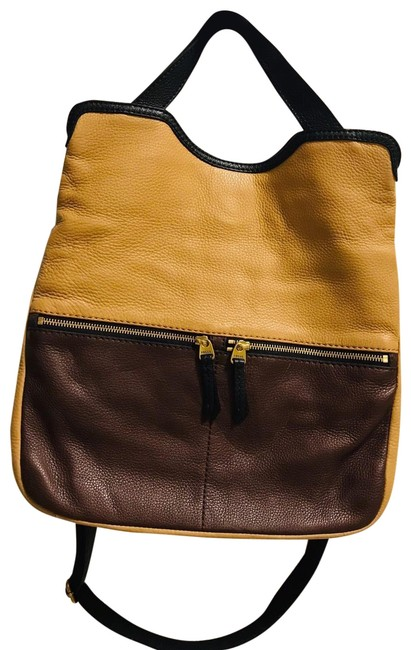 Item - Brown and Beige Leather Hobo Bag