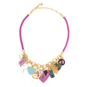 Juicy Couture Outlet Mash Up Statement Love & Hearts 10 Charms Necklace