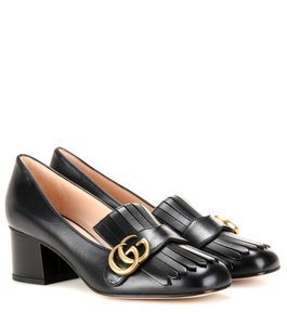 Gucci Gg Gg Gg Marmont Loafer Black Pumps