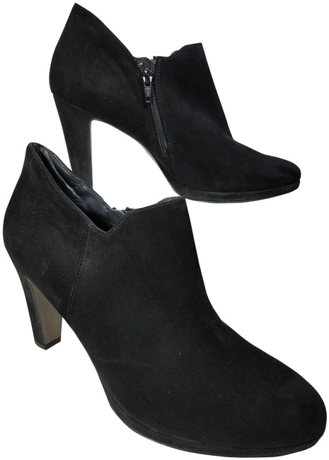 Item - Black Women Ankle Suede Leather Heel Platform Zipper Boots/Booties Size US 10 Regular (M, B)