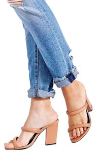 Sol Sana Leather Raven Nude Mules