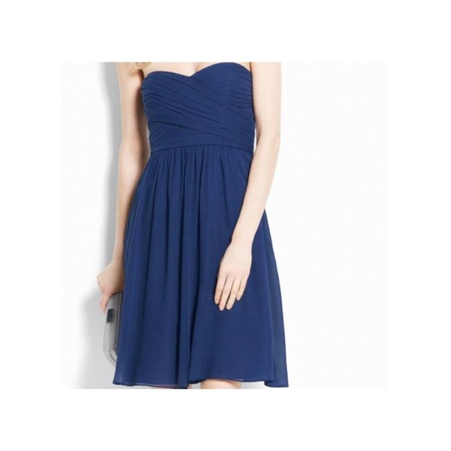 Item - Blue Women's Navy Silk Mid-length Formal Dress Size 2 (XS)