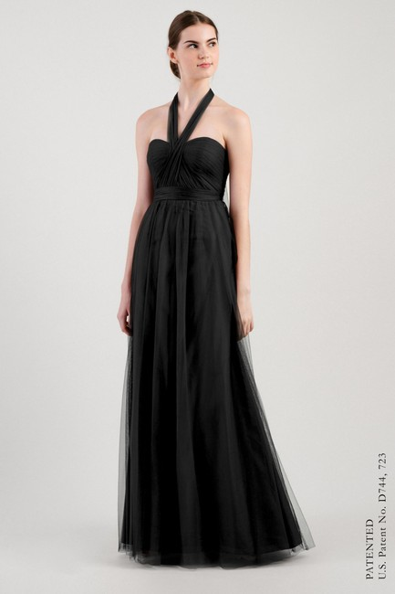 Item - Black Tulle Annabelle Formal Bridesmaid/Mob Dress Size 6 (S)