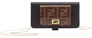 Fendi FF Logo Baguette Iphone XS Chain Crossbody