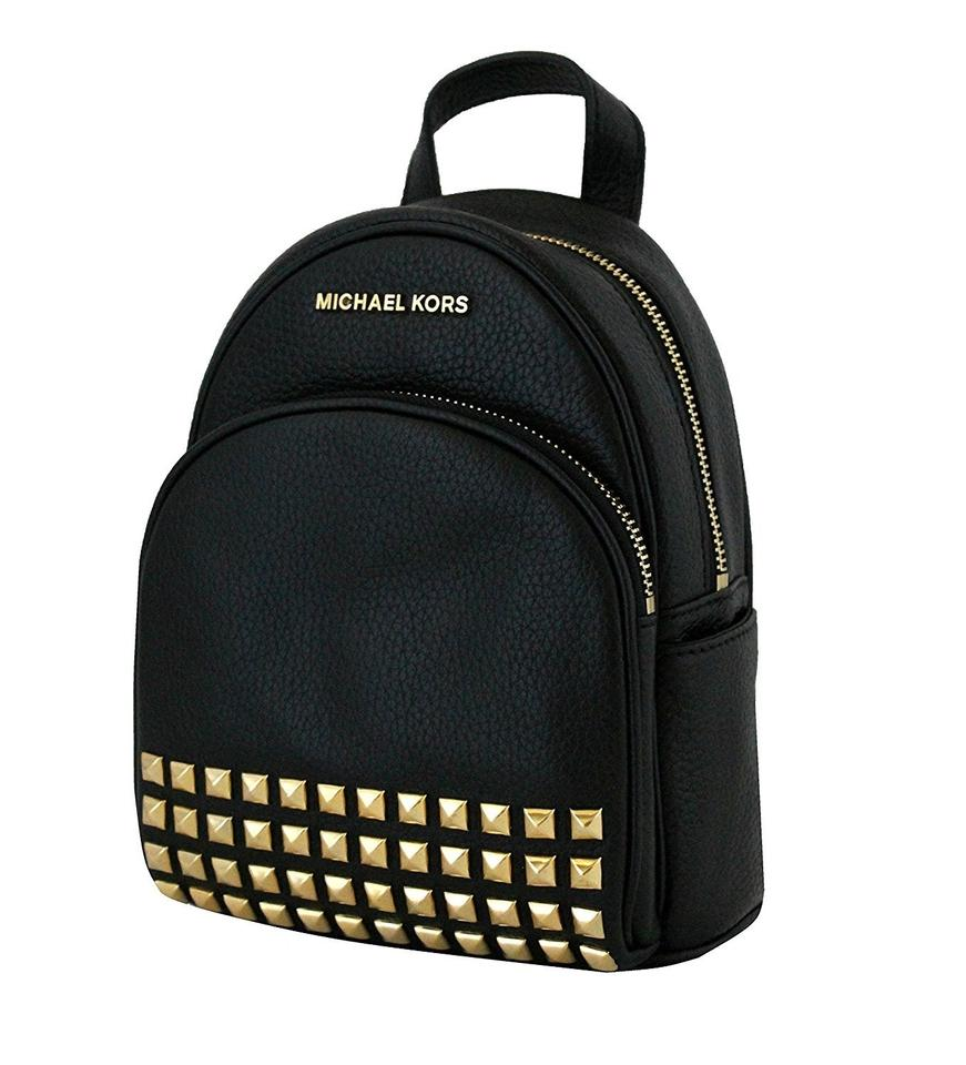 MICHAEL Michael Kors Abbey Extra Small Studded Leather Backpack Black