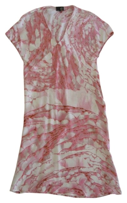 Roberto Cavalli short dress Pink Silk on Tradesy