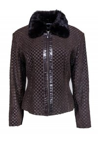 Marvin Richards Woven Leather brown Jacket