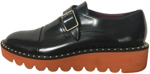 Stella McCartney Chunky Faux Leather Vegan Black Platforms