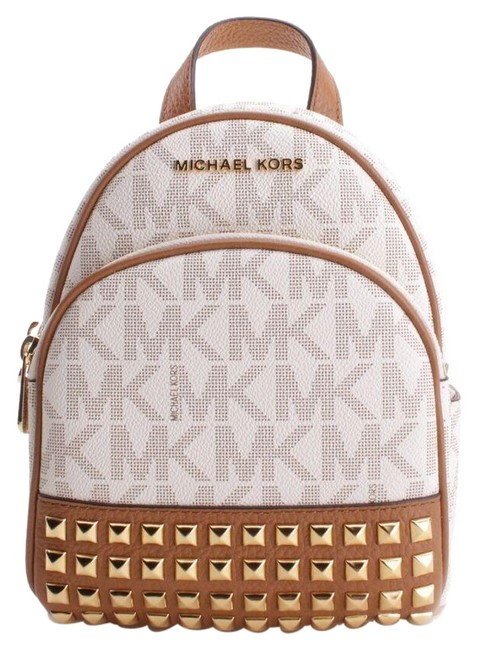 Item - New Abbey Extra Small Vanilla/Acorn Leather Backpack