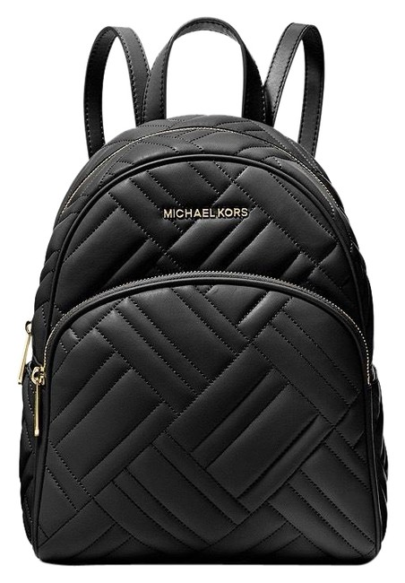 Item - New Abbey Medium Quilted Black Leather Backpack