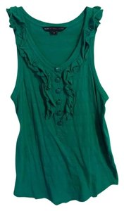 Marc by Marc Jacobs Buttons Ruffle Top Green
