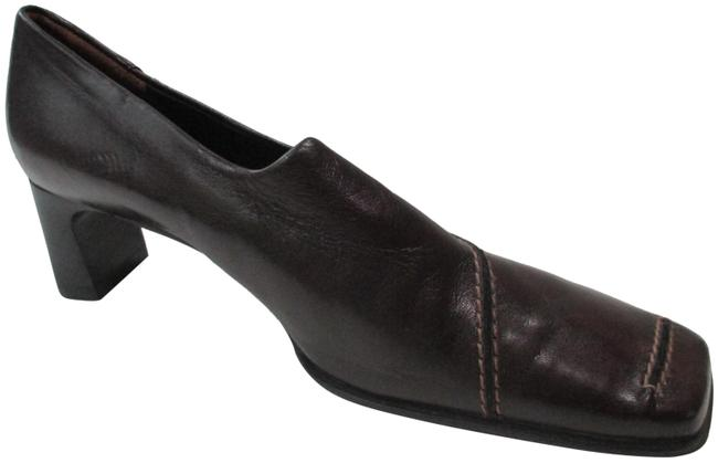 Item - Brown Chestnut Square Toe Casual Low Pumps Size US 6 Narrow (Aa, N)
