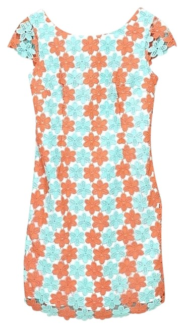 Item - Blue Orange Truly Petal Lace Barbara Short Casual Dress Size 4 (S)