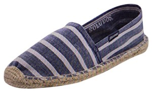 Soludos New In Box Chambray stripe Flats