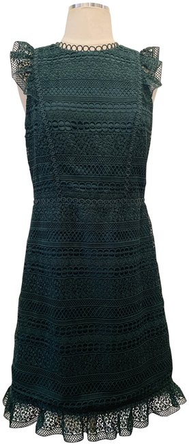J.Crew Green Crocheted Mini Short Casual Dress Size 4 (S) J.Crew Green Crocheted Mini Short Casual Dress Size 4 (S) Image 1