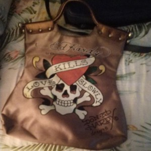 Ed Hardy Tote in Gold